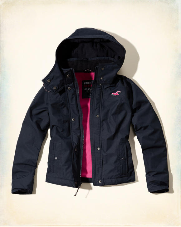 Girls Hollister All-Weather Jacket | Girls Clearance ...