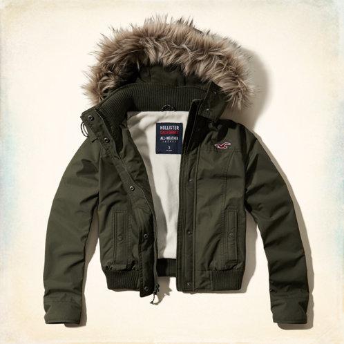 Girls Hollister All-Weather Bomber Jacket | Girls Jackets ...