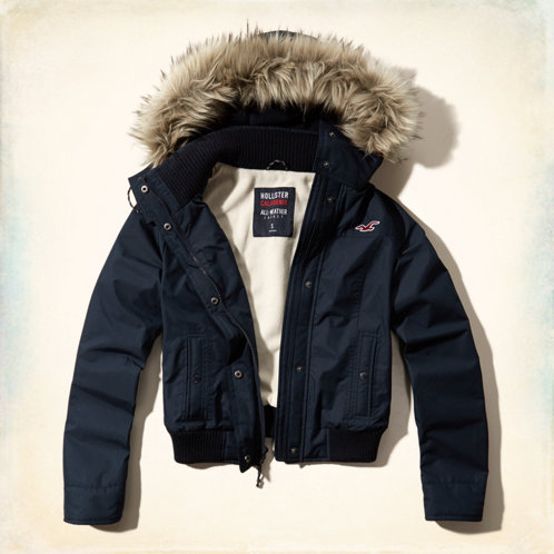 girls hollister all weather bomber jacket girls jackets. Black Bedroom Furniture Sets. Home Design Ideas