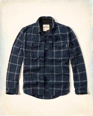 Textured Flannel Shirt-Jacket