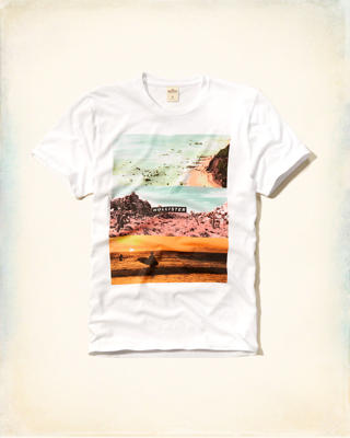 Photoreal Beach Logo Graphic Tee