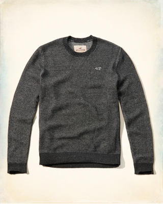 Textured Crew Sweater
