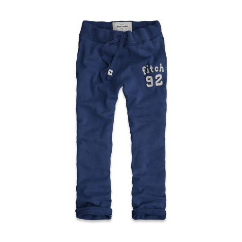 boys a&f slim straight sweatpants