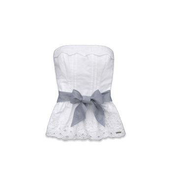 girls morgan strapless top