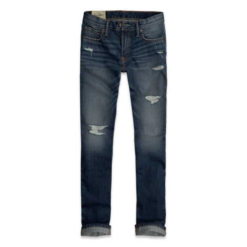 bottoms a&f slim straight jeans