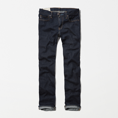 featured items a&f slim straight jeans