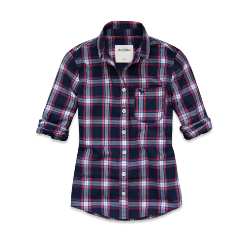 plaid tara shirt