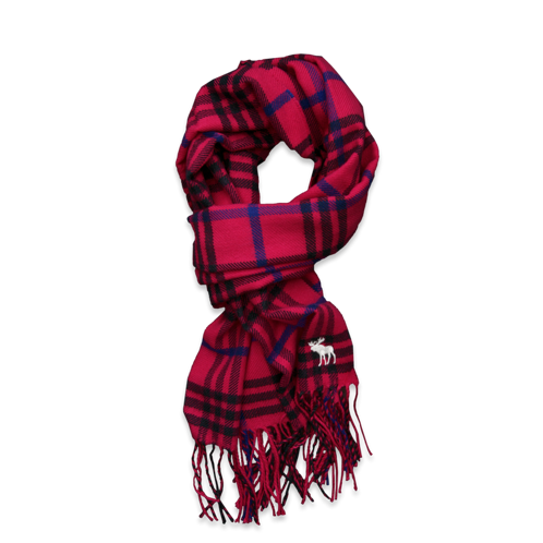 girls colorful plaid scarf