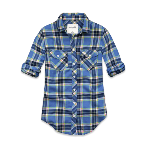 plaid macey shirt