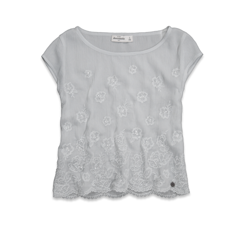 girls camille shine top