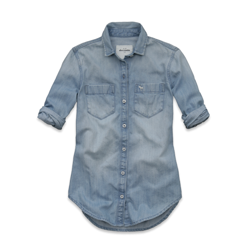 girls brieann denim shirt