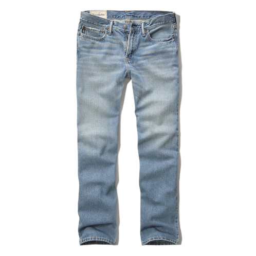 DELETE signature washes a&f slim straight jeans