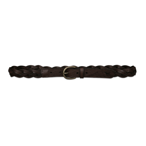 girls braided leather belt