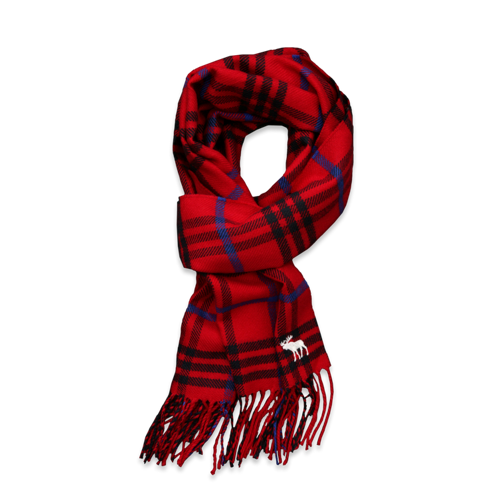 Old Winterwear colorful plaid scarf