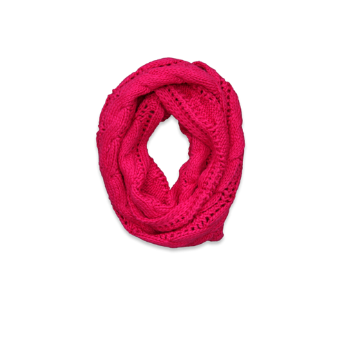girls knit cable eternity scarf