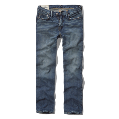 featured items a&f classic straight jeans