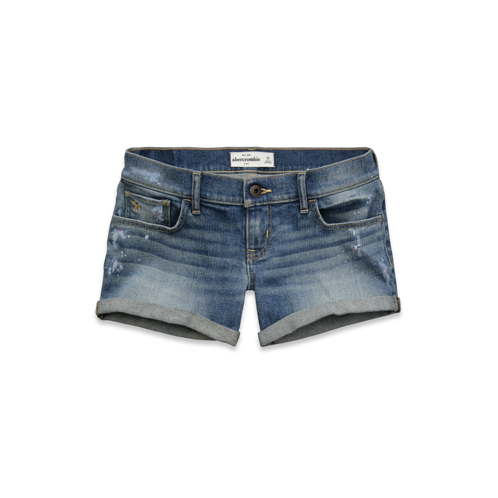 girls a&f midi length shorts