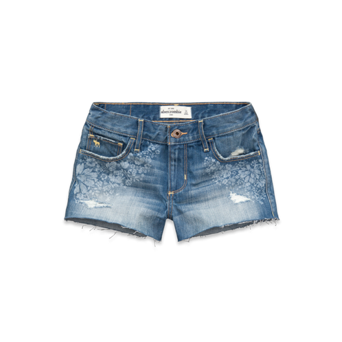 girls a&f high rise shorts