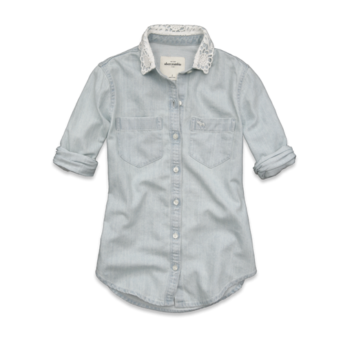 girls april denim shirt