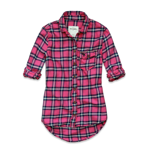 girls gemma flannel shirt