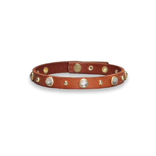 jeweled leather bracelet jeweled leather bracelet