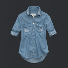 girls codie denim shirt