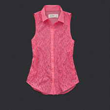 girls megan lace shirt