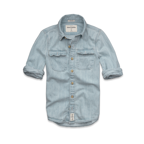 guys indian pass denim shirt