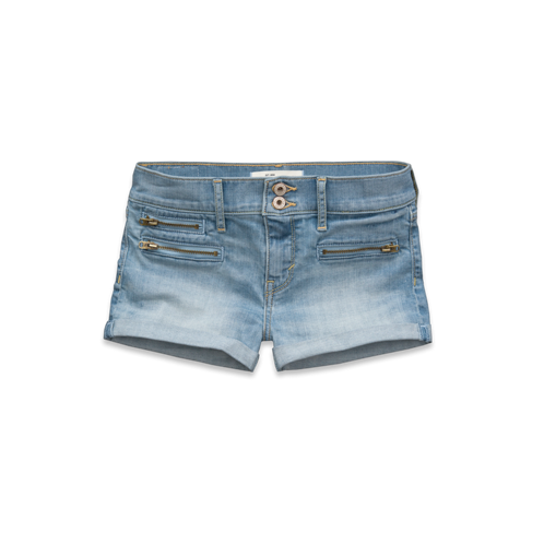 girls a&f super high rise shorts