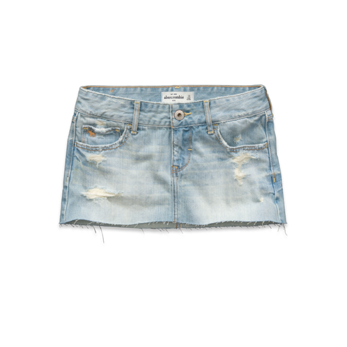 girls a&f denim skirt