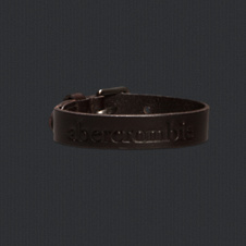 boys genuine leather logo bracelet