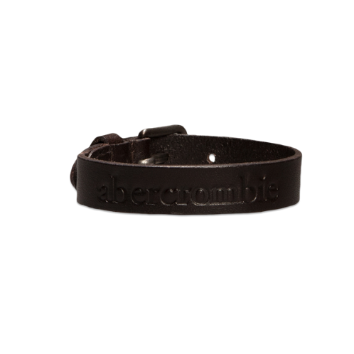 guys genuine leather logo bracelet