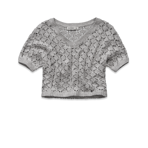 girls heather shine sweater