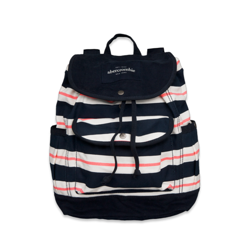 girls cute striped backpack