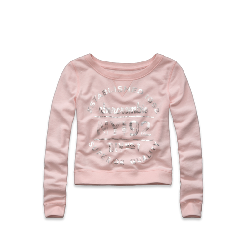 girls evette shine sweatshirt