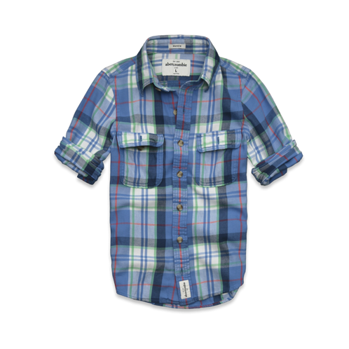 guys lake placid twill shirt