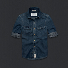 boys wolf pond denim shirt