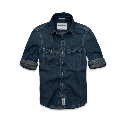 guys wolf pond denim shirt