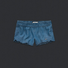 girls theresa chambray shorts