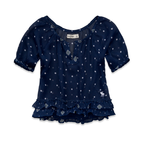 girls madeline chiffon top