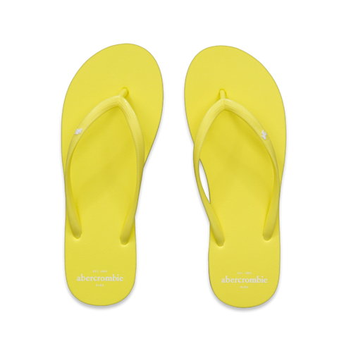 girls bright neon flip flops