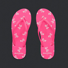 girls cute bow flip flops
