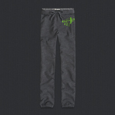 girls a&f banded boyfriend sweatpants