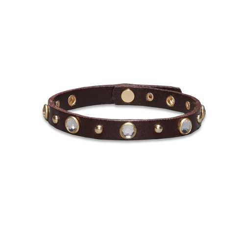 girls genuine leather shine bracelet