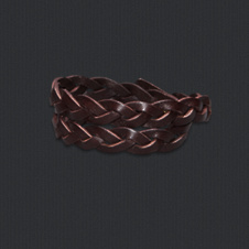 girls braided leather bracelet