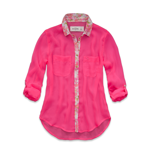 girls elicia chiffon shirt