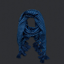 girls dots scarf