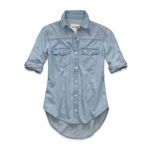 girls cami denim shirt