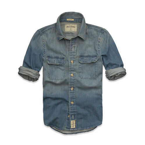 guys lake placid denim shirt