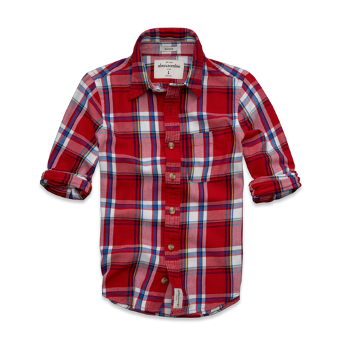 tops round mountain twill shirt